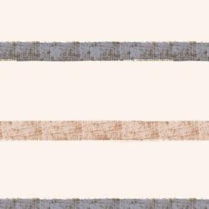 Burlap Stripe in Gray and Brown