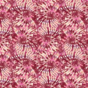 Red Tie Dye Swirls (medium)