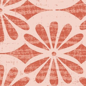 Solstice - Boho Geometric Blush Pink Large Scale