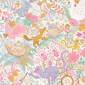 "Tea Time at Wonderland (pastels) 9"""