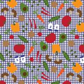 Veggie Confetti on Gingham