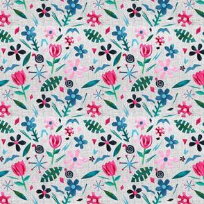 Papercut Flower Garden