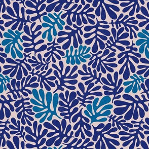 Blue Organic Leaves - small scale
