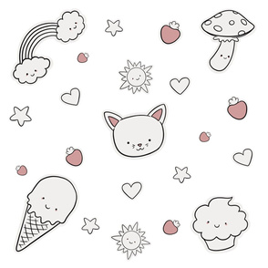 Cute kawaii collection