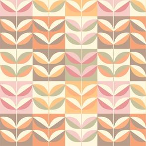 Modern leaf pattern