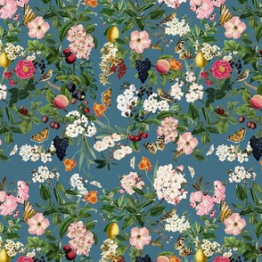 Summer Orchard, River Blue // small