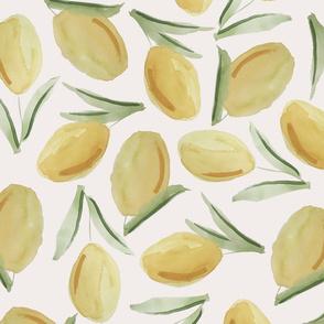 fresh lemons on whip cream