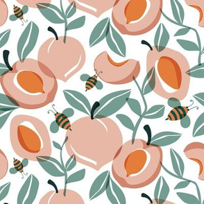 Just Peachy - Summer Fruit and Bees Regular Scale