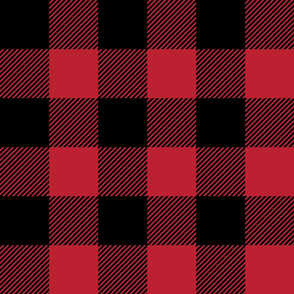 """(3"""" scale) Black and red plaid - C20BS"""