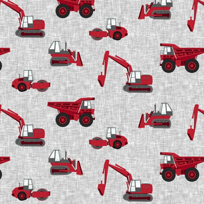(large scale) construction truck - red on grey - C20BS