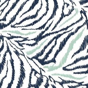 colourful zebra pastel