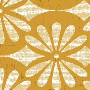 Solstice - Boho Geometric Goldenrod Yellow Large Scale