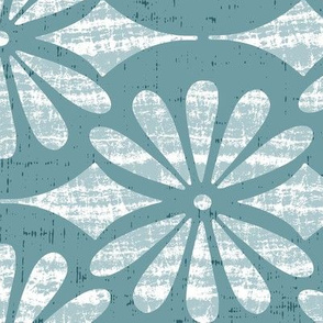 Solstice - Boho Geometric Light Teal Large Scale