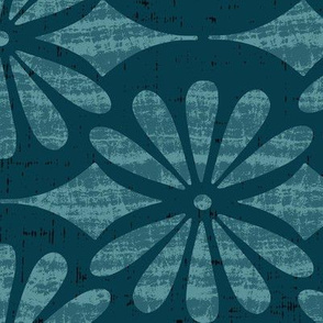 Solstice - Boho Geometric Teal Large Scale