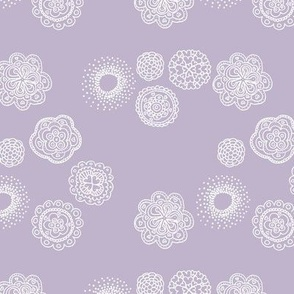 Blossom mandala abstract flower illustrations sweet romantic floral boho design spring summer lilac purple lavender