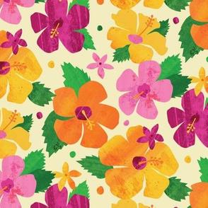 Paper Cut Hibiscus