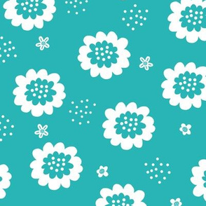 Enchanted Floral - Teal