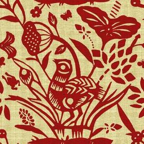 Papercut Garden (red) inv