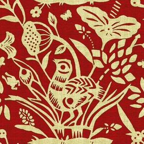 Papercut Garden (red)
