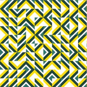 zigzag yellow-white-green