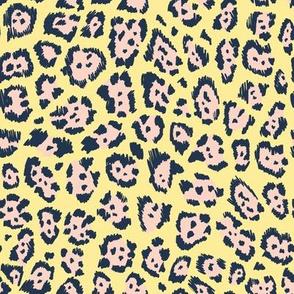 Colourful cheetah pastel