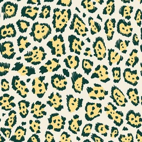 Colourful cheetah yellow
