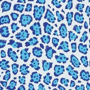 Colourful cheetah blue
