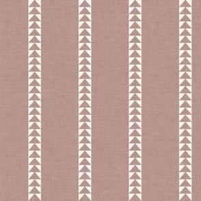 Arrow Stripe in Rose Brown