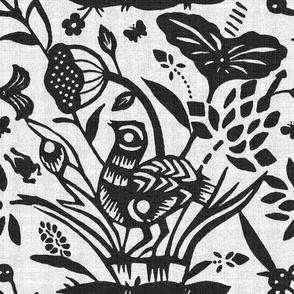 Papercut Garden (BW)inv8
