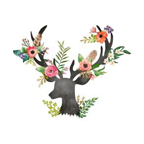 """27""""x36"""" Floral Dreams Deer"""