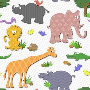 Cute Safari Cutouts