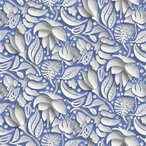 papercut floral by rysunki_malunki