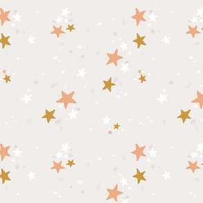 Small Star Dust on Cream