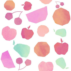Pastel Watercolor Fruit