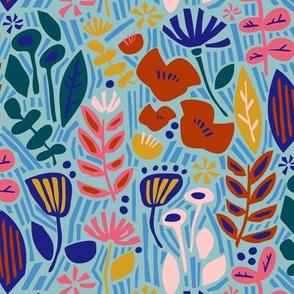 Paper Cut Floral Garden Mint