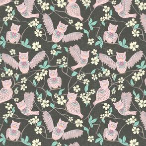 Pink Owl Chintz Cutouts, medium