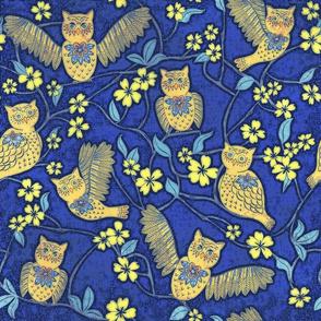 Night Owl Chintz cutouts, large