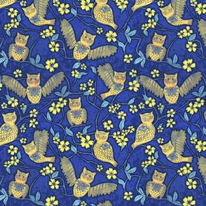 Night Owl Chintz cutouts, medium