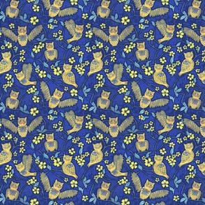 Night Owl Chintz cutouts, small