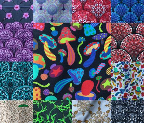 Rainbow Colorful Mushrooms 1