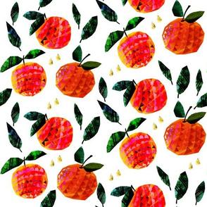 Oranges papercut style smaler scale