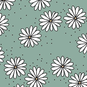 Little sprinkles daisy garden boho spring daisies in trend colors sage green