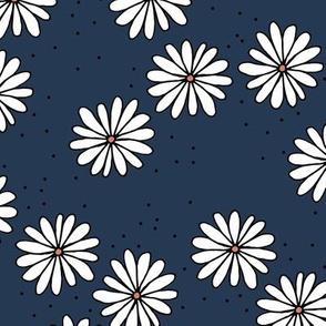 Little sprinkles daisy garden boho spring daisies in trend colors navy blue