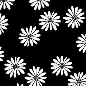 Little sprinkles daisy garden boho spring daisies in trend colors black white orange