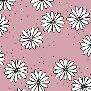 Little sprinkles daisy garden boho spring daisies in trend colors mauve purple