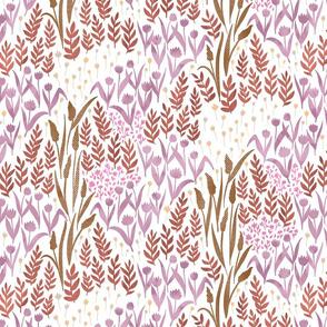Wildflowers of paper - pink