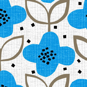 blue cut-paper flower - jumbo