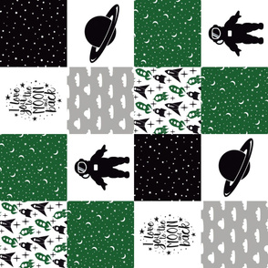 SPACE7_ROTATED | Wholecloth Quilt | BC3 Green Black Grey