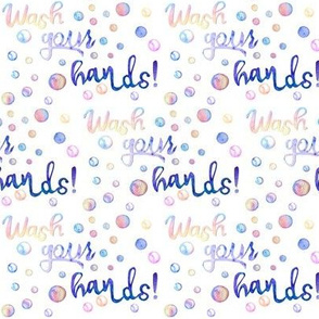 wash your hands fabric  //  promoting  health and hygiene !