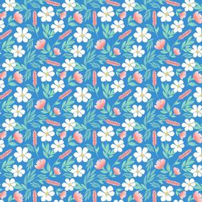 Happy Blooms - Blue